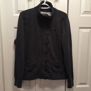 Roots Athletics Grey Button Up Jacket